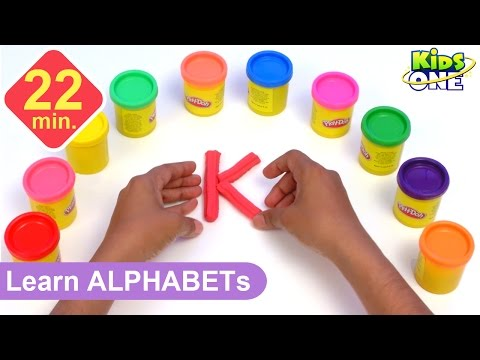 Play and Learn ALPHABETS with Play Doh for Children | Play-doh ABC for Kids - KidsOne