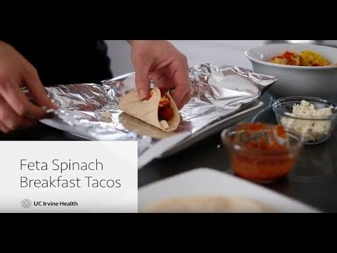 Feta Spinach Breakfast Tacos