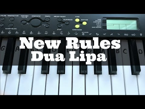 New Rules - Dua Lipa | Easy Keyboard Tutorial With Notes (Right Hand)