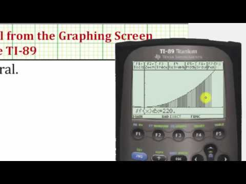 Graph and Evaluate a Definite Integral on the TI-89