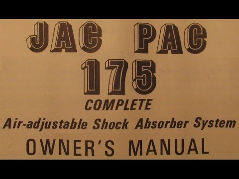 Delco Jac Pac 175 Air Adjustable Shock System Owners and Installation Manual