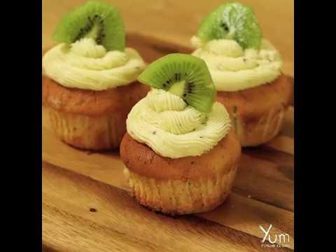 How to Make Kiwi Vanilla Cupcakes with Kiwi Buttercream Frosting