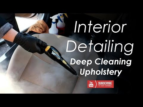 Interior Detailing -- Deep Cleaning Upholstery -- Steam Cleaning