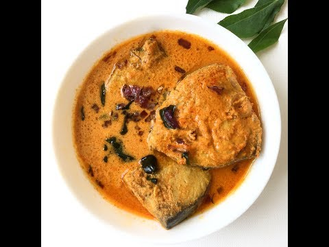 Kerala Fish Curry with coconut milk (using raw mango or kodampuli)    Thrissur Style Meen Curry