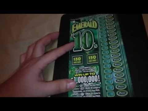 Playing Scratcher Emerald 10's