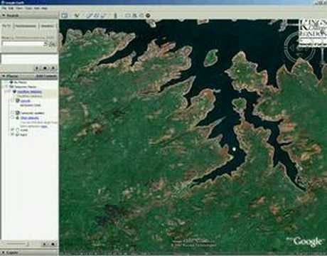 google earth places database