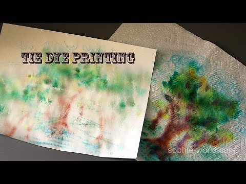 How to Make Your Own Tie Dye Paper | Sophie's World