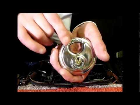 Single Pin Picking A HILKA 70mm Discus Padlock Tutorial www.uklocksport.co.uk