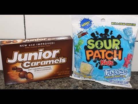Junior Caramels and Sour Patch Kids Freeze Lemonade Variety Mix Review