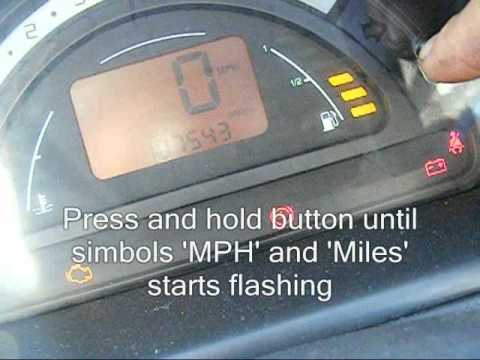 Changing The Speedometer on Citroen C2 C3 from MPH to KM/H How to change.wmv