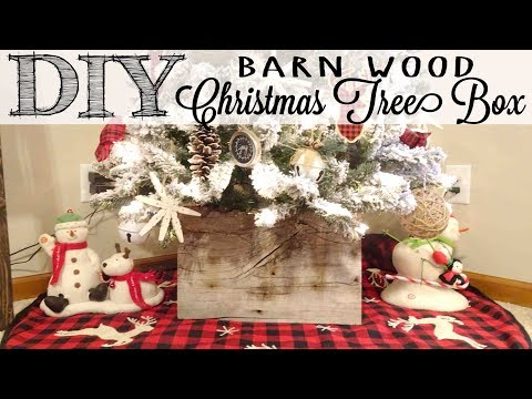 DIY Barn Wood Christmas Tree Box