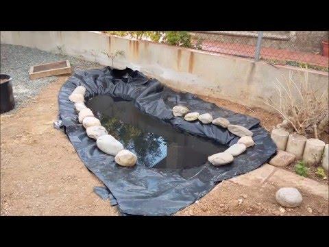 Construcción estanque para tortugas