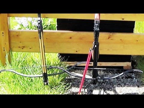 Recurve Crossbow - Wood penetration test