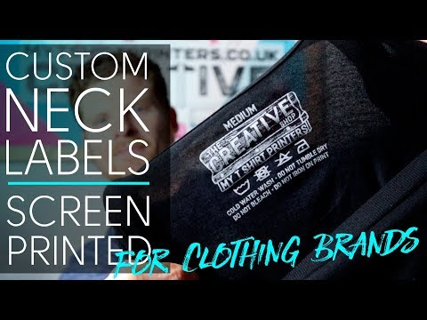 Custom Neck Label Printing - Cost Saving Screen Printed Neck Labels for Clothing Brands