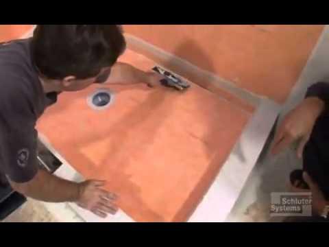 KERDI Membrane Installation over Shower Tray