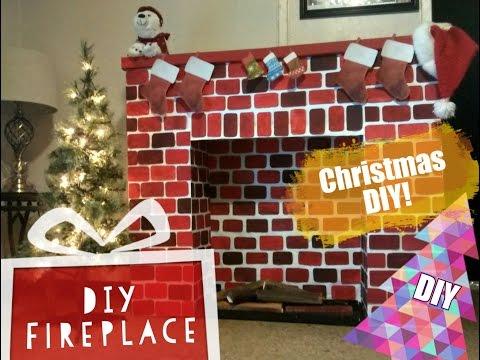 DIY Christmas Fireplace- How to make a Fireplace
