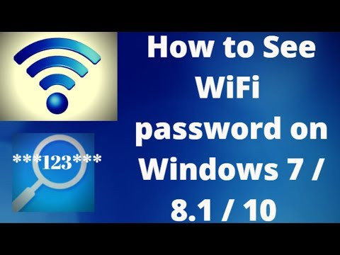 How To See WiFi Password on Windows 10 / 8.1 Or 7