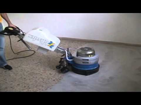 Levighetor640 Terrazzo floors (marble and concrete floor) grinding wet polishing shine