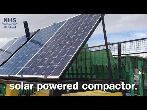 NHSH solar cardboard compactor