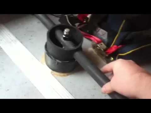 DIY Dinghy Steering (hands free trolling motor steering for boat)
