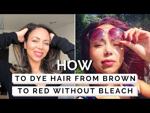 How To Dye Dark Hair Red Without Bleach | L'Oreal HiColor HiLights