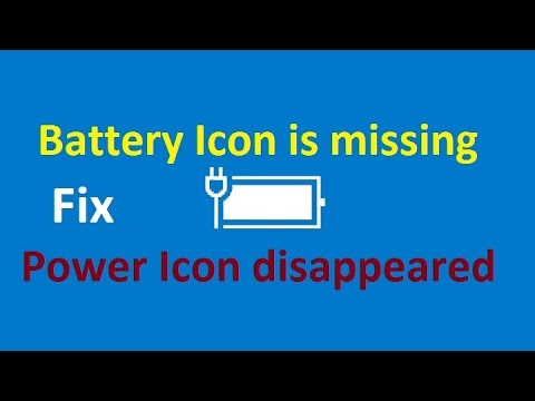 Battery Icon disappeared from Notification Area Windows 10 / 8!! - Howtosolveit