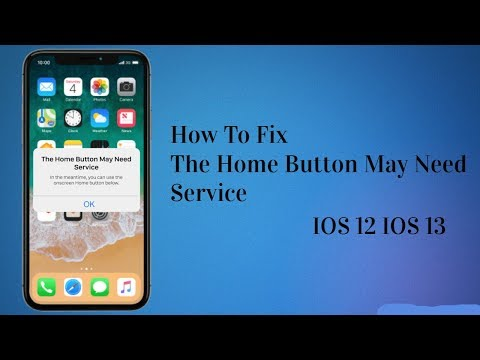 How To Fix The Home Button May Need Service IOS 12