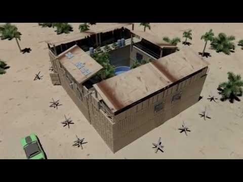 zombie defense bunker house shipping container