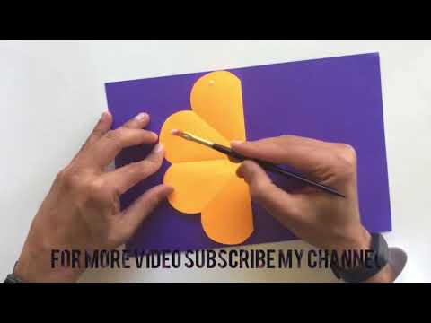 How to make flowers pop-up dly| scrapbook | tutorial by paper