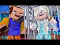Minecraft HELLO NEIGHBOR ELSA IS TRAPPED IN THE NEIGHBORS BASEMENT