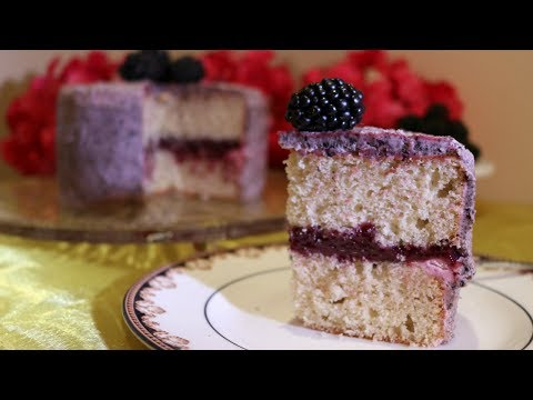 Fresh Blackberry Cake Filling - Creamy Curd Style