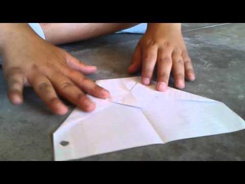 Tutorial to make paper glider