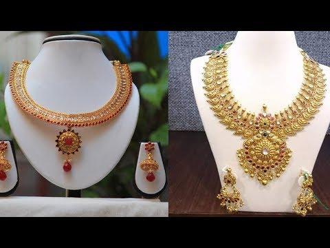 Latest Short Designer Necklace Designs - She Fashion