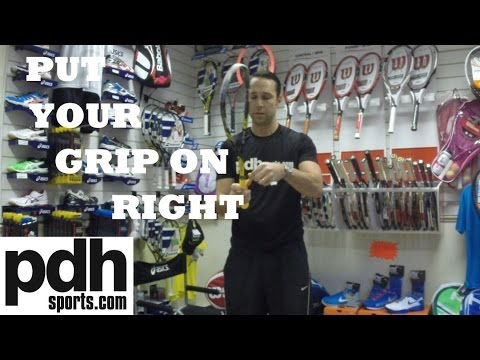 How to put a new Karakal PU Super Grip on to your squash racket correctly
