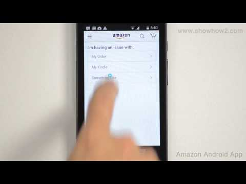 Amazon Android App - How To Call Customer Service