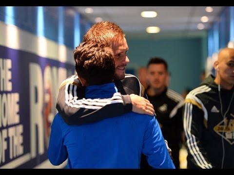 Gylfi Sigurdsson returns to Madejski Stadium   Reading vs Swansea   02.08.14