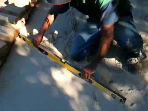 How to level ground before laying pavers - Basic Video
