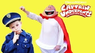 DREAMWORKS Captain Underpants meets BOSS BABY silly kids video