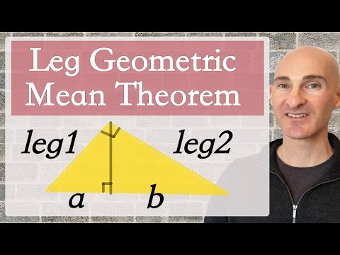 Leg Geometric Mean Theorem
