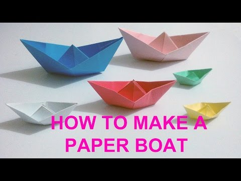 How To Make A Simple Paper Boat | PAPER CRAFT BOAT
