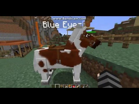 how to make a cow horse in mo creatures 1.8