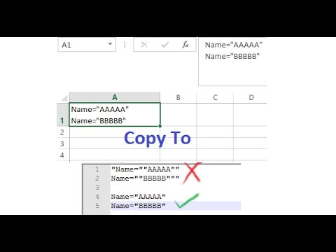 Solve Double Quotes Issue When Copying From Excel Contents