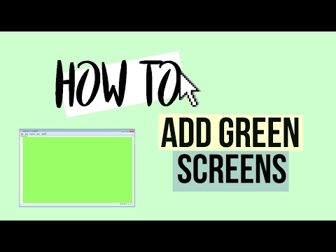 HOW TO USE GREEN SCREEN IN SVP!