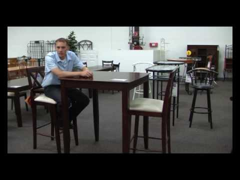 Bar Height Table and Chairs 2124
