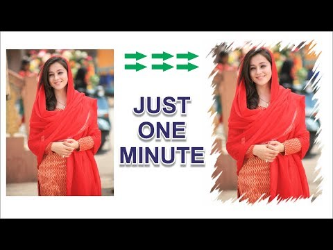 Coreldraw x7 Tutorial - How To Make Image Frame in Just One minute With AS GRAPHICS