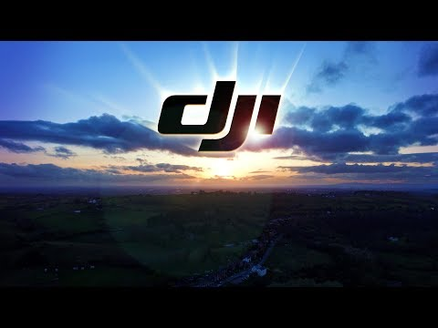 Drone High Altitude Flying Sunset DJI 2.7K Test - Manchester Drone footage in distance