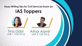 IAS Toppers Tina Dabi & Athar Aamir Tips for Essay Writing in UPSC