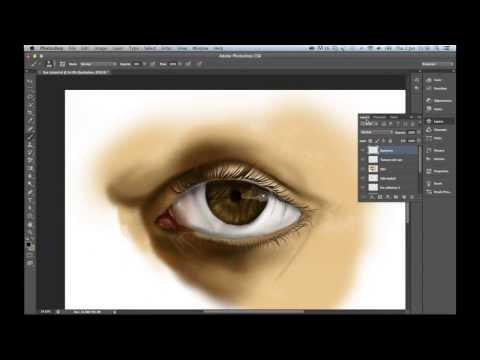 Digital Painting Eye Tutorial on Photoshop CS5