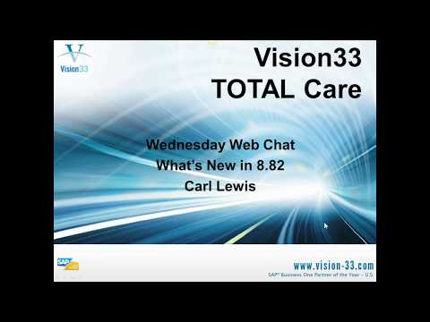 SAP Business One Training - Sept 12, 2012 - Cash Flow Forcast Overview by Vision33
