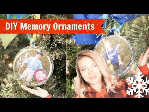 DIY Sports Team Memory Ornaments
